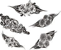 De stammen Tatoegeringen van de Bloem Royalty-vrije Stock Afbeelding