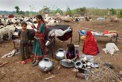 De Stammen van Banjara in India stock afbeelding