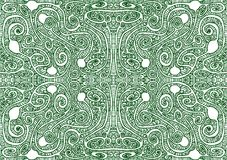De stammenachtergrond van het Labyrint Naadloze Patroon stock illustratie