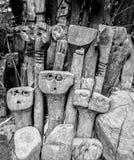 De Stammenbeeldhouwwerken Eden Project van Amazonië stock fotografie