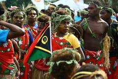 De stammendorpsbewoners van Vanuatu Stock Foto