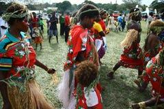 De stammendorpsbewoners van Vanuatu Royalty-vrije Stock Foto