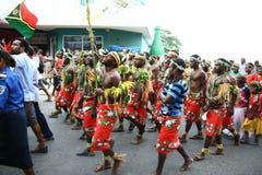 De stammendorpsbewoners van Vanuatu Royalty-vrije Stock Foto's