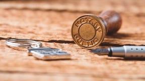 De stamper van de notariswas royalty-vrije stock foto's