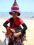 De stamvrouw van de heuvel, Thailand. stock afbeeldingen