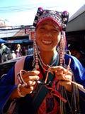 De stamvrouw van de heuvel, Thailand. Stock Foto's