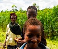 De stamvrouw van Xonsita van Konsoaka - 03 oktober 2012, Omo-vallei, Ethiopië royalty-vrije stock foto