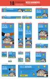 De standaardbanners van het grootteweb - Real Estate Stock Foto's