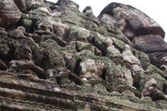 De standbeelden van Angkor-Tempels, Kambodja Stock Afbeeldingen