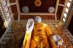 De standbeelden van Boedha in de Birmaanse Boeddhistische Tempel van Dhammikarama Stock Foto's