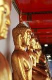 De standbeelden van Boedha in een tempel royalty-vrije stock foto