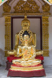 De standbeelden van Boedha, Gezicht van gouden Boedha, Thailand, Azië Royalty-vrije Stock Afbeelding