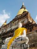 De standbeelden van Boedha in het historische park van Ayutthaya, Ayutthaya, Thailan Royalty-vrije Stock Afbeeldingen