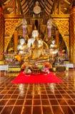 De standbeelden van Boedha in de tempel royalty-vrije stock foto