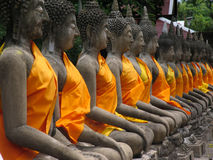 De standbeelden van Boedha. Thailand royalty-vrije stock afbeeldingen