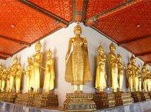 De standbeelden van Boedha in Wat Pho op 9 Januari, 2010 in Bangkok, Thailand Stock Fotografie