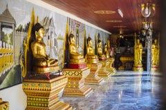 De standbeelden van Boedha in Wat Phrathat Doi Suthep Royalty-vrije Stock Foto