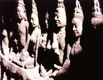 De Standbeelden van Buddah stock foto's