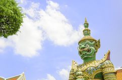 De Standbeelden van de demonbeschermer in Wat arun, Bangkok Royalty-vrije Stock Afbeelding