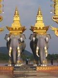 De standbeelden van de olifant Royalty-vrije Stock Foto's