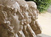 De standbeelden van drie vereert stock foto's