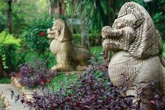 De standbeelden van geesten Stock Afbeeldingen