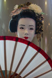 De standbeelden van geishaJapan bij Terminal 21 in Thailand op 26 Maart, 2017 | Mooi vrouwelijk portretart. Royalty-vrije Stock Fotografie