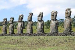 De Standbeelden van het Eiland van Pasen Royalty-vrije Stock Fotografie