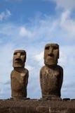 De Standbeelden van het Eiland van Pasen Stock Foto