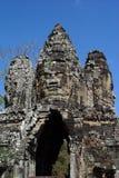 De Standbeelden van het Gezicht van Boedha in Bayong Royalty-vrije Stock Foto's