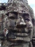 De Standbeelden van het Gezicht van Boedha in Bayong Stock Afbeelding