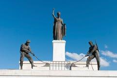 De standbeelden van het vrijheidsmonument stock afbeelding