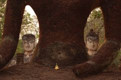 De standbeelden van Hostoricalboedha in Thailand Stock Afbeeldingen