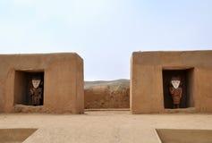De Standbeelden van Incan in Chan Chan royalty-vrije stock foto