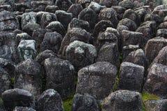 De standbeelden van Jizo in Kyoto Stock Fotografie