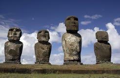 De Standbeelden van Moai van het Eiland van Pasen Stock Afbeeldingen