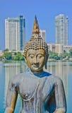 De Standbeelden van Seema Malakaya - Sri Lanka Stock Afbeelding