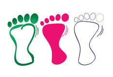 De stap van de voet stock illustratie