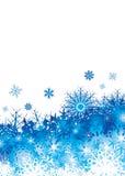De stapel blauwe ruimte van de sneeuwvlok Royalty-vrije Stock Afbeelding