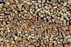 De stapel van brandhout Stock Afbeeldingen