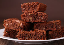 De stapel van Brownies Stock Afbeelding