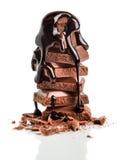 De stapel van chocolated behandeld met chocolade syrop Royalty-vrije Stock Fotografie