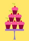De stapel van Cupcakes Stock Afbeelding