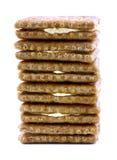 De stapel van de cheddarcrackers van de tarwe Stock Afbeelding