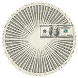De stapel van de de bankbiljettencirkel van de dollar Royalty-vrije Stock Afbeeldingen