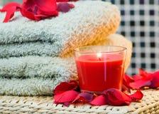 De stapel van de handdoek royalty-vrije stock afbeeldingen