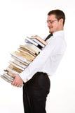 De stapel van de jonge mensenholding boeken Royalty-vrije Stock Fotografie