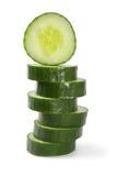 De stapel van de komkommer Stock Foto's