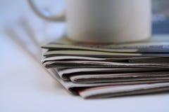 De stapel van de krant royalty-vrije stock foto