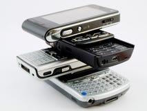 De Stapel van de stapel van Verscheidene Moderne Mobiele Telefoons PDA Royalty-vrije Stock Afbeelding